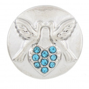Snap button Love birds Valentine 18mm charm chunk