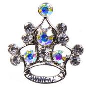 Snap button Crystal Crown Snaps Antique Metal Button Tiara 18mm charm chunk