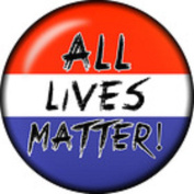 Snap button All Lives Matter 18mm charm chunk