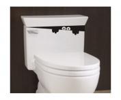 Toilet Monster Bathroom Decal Funny vinyl sticker wall art People's CHoice
