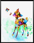 Aprikskys Workshop 28cm X 36cm Deer Canvas Art Print Boys Room Girls Room Kids Décor Nursery Decor Art Print Wall Decor Home Décor Office Décor Room Deco Inspirational Wall Art Gift A1013