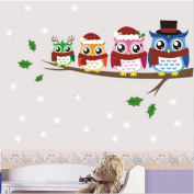 Shuaxin Cartoon Children's Room Bedroom Walls Painted Decorative Stickers Cute Owls Animal Series Wall Stickers Decoration