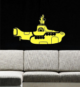 Yellow Submarine Wall Decals, 130cm W by 70cm H, Ocean Wall Decals, Sea Life Decals, Underwater Nursery, The Beatles, Submarine Wall Decals, Kids Decals PLUS FREE WHITE HELLO DOOR DECAL WITH PURCHASE