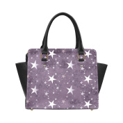 Artsadd Stars Pattern Classic Women Handbag Shoulder Handbag Tote Bag