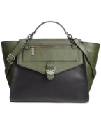 Danielle Nicole Blair Top Handle Satchel, Green/Black