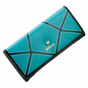 Egmy Women's Button Wallet PU leather Crown Mixed Colours Coin Purse Card Bags Long
