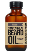 Simply Great Beard Oil - VIKING Scented Beard Oil - Beard Conditioner 90ml Easy Applicator - Natural - Vegan and Cruelty Free Care for Beards - America's Favourite