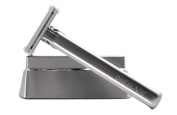 OneBlade Stainless Steel Safety Razor with Stand