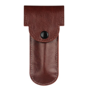 Casebot PU Leather Double Edge Safety Razor Protective Travel Case Cover with Felt Lining from Fintie, Brown