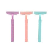 Mily Womens Razor Sensitive Skin Disposable Razor 1 Candy Colour Razor + 1 Blade Refill pack 0f 3