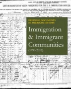 Immigration & Immigrant Communities (1790-2016)