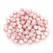 Navifoce Artistic Marble Design Various Colour Round Loose Beads Lampwork Bead for Jewellery Making Craft,8mm Diameter