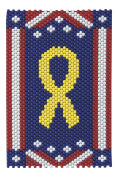 Yellow Peace Ribbon Beaded Banner Kit - The Beadery - 5599 - Pony Beads