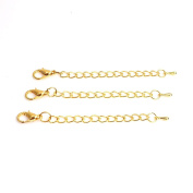 MEIBEADS 6pcs/lot 80mm Necklace Bracelet Extended & Extension Jewellery Chains/Tail Extender Chain Drops With Lobster Clasps DIY Findings£¨gold£