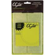 C-Gull Embossing Circle Frame Folder, 13cm by 18cm