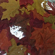 50 Artificial Fall Maple Leaves in Varied Colours