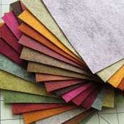 21 Felt Sheets - 15cm x 30cm Fall Colours Collection - Made in USA - Merino Wool Blend Felt - OTR Felt