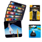 Prismacolor Quality Art Set - Premier Coloured Pencils 132 Pack, Premier Pencil Sharpener 1 Pack and Latex-Free Scholar Eraser 1 Pack