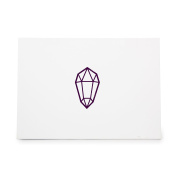 Crystal Shard Ruby Riches Rare Style 9022, Rubber Stamp Shape great for Scrapbooking, Crafts, Card Making, Ink Stamping Crafts