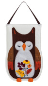 Evergreen Autumn Owl Felt Door Decor