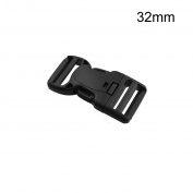 Multi-Size Dual Adjustable Buckles Plastic Side Release Buckles (1-1/4""
