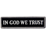EmbTao In GOD We Trust Embroidered Tactical Morale Velcro Patch - Black & White