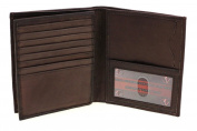Paul & Taylor Men's Leather Hipster Centre Flap Bifold Wallet - Multiple Colours!