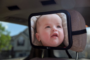 Emma Made Baby and Mom Back Seat Car Mirror with No Pinch Foam Door Stop