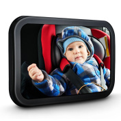 Homitt Baby Car Mirror, Back Seat Mirror Large Rear-Facing Shatterproof Baby Mirror for Keeping Your Baby in Sight.
