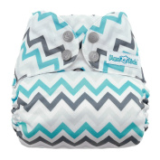 Mama Koala One Size Pocket Washable Adjustable Cloth Nappy,Grey Chevron
