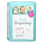 Well Beginnings Premium Nappies Jumbo, 6 23 ea
