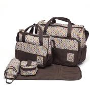 Mom Miya 5-in-1 Multifunction Large Capacity Baby Nappy Bag Nappy Changing Pad Travel Mummy Bag Tote Handbag Set