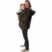 RooCoat Babywearing Coat 2.0 Charcoal with Grey Stripes Large