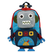 Your Gallery Baby's Cute Robot Pattern Oxford Cloth Backpack Toddler Bookbag, blue