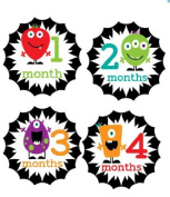 Monthly Stickers Baby Month Stickers Baby Girl Monthly Stickers Baby Boy Monthly Stickers Veggie Monsters Monthly Stickers Primary Colours Neutral Monthly Stickers