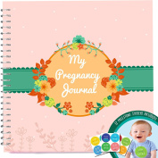 Pregnancy Journal With 12 Milestone Stickers