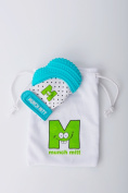 Munch Mitt Baby Teething Mitten Aqua Blue
