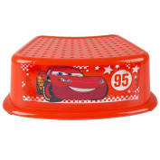 Ginsey Children's Character Contour Step Stool - Cars Rule the Road - Durable Construction - Non-Slip Surface and Feet - Lightweight - 36cm x 25cm x 13cm