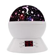 SCOPOW Constellation Night Light Star Sky with LED Timer Auto-Shut Off, 360 Degree Rotation Colourful Moon Night Lamp Gift for Baby Kid Children Bedroom Nursery Decor