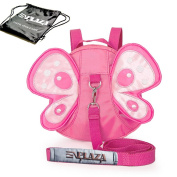 EPLAZA Butterfly with Wings Baby Walking Safety Harness Reins Toddler Child Strap Backpack Kid for 3-6 years old