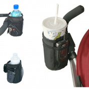 Universal Insulated Stroller and Car Seat Cup Holder and Storage Organiser with Built In Insulation by Luvit