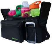BexyRuz High Quality Universal Stroller Organiser That Fits Most Strollers With Baby Bottle Insulated Holders
