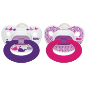 NUK Marrakesh & Whales Puller Pacifier in Girls, 18-36 Months