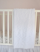 Ruffle Baby Blanket for Baby Girl 110cm Many Colours Available - Great Swaddling, Crib, and Receiving Blanket