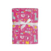 Baby Gear Plush Boa Ultra Soft Baby Girls Blanket 30 x 40 Pink Forest Friends