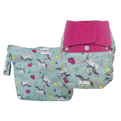 GroVia Nappy and Wetbag Purrrrfect Combo - Cloth Nappy Shell - Hook Loop