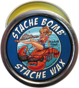 Wicked Good Stache Bomb Stache Wax Moustache Wax Made In Maine- Ocean, Sea, and Beach Scented Moustache Wax