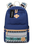 Tibes Vintage Canvas School Backpack for Girls/Women