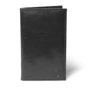 Maxwell Scott® Luxury Italian Leather Golf Card Holder (Sestino), Night Black