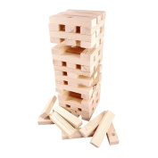 NEW 60 PC GARDEN JENGA TOWER WOODEN TUMBLING BLOCKS FAMILY PARTY FUN GAME